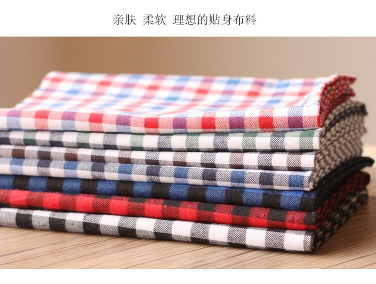 色织改梭织涤棉面料Yarn Dyed TC Printing Flannel Fabric
